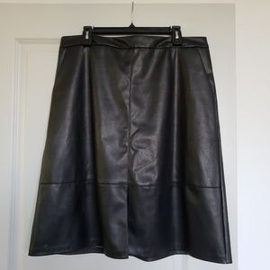 Target Faux Leather Skirt WITH POCKETS!!!